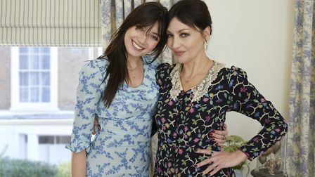 Pearl Lowe (right) and her daughter Daisy in Daisy's bedroom created for Hillarys Mothers Day Challe