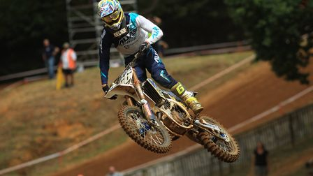 Local rider Lewis Tombs