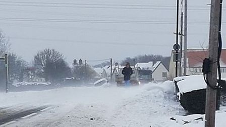 Drifts are causing problems for drivers on the roads. Picture: LUKE MCGANN
