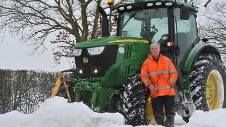 Kenny Crane has been clearing the roads and helping people in need. Picture: SARAH LUCY BROWN