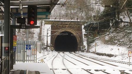 Icicles have formed in Ipswich tunnel. Picture:PAUL GEATER