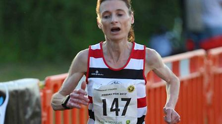 Odette Robson, who led the Saint Edmund Paces charge in the ladies' race with third spot at Nowton P