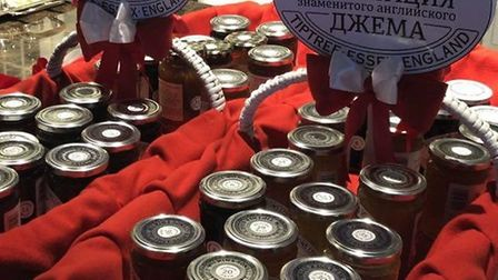 Tiptree jams on sale in Uzbekistan. Picture: CONTRIBUTED