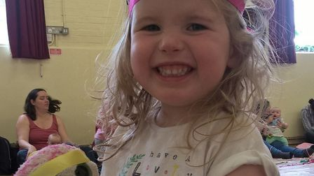 Mia before treatment. Picture: CANCER RESEARCH UK KIDS AND TEENS SUFFOLK