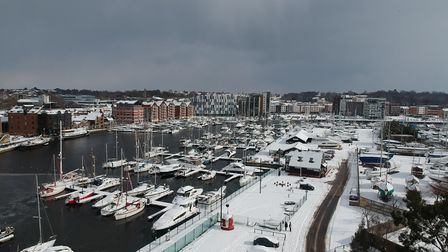 Ipswich docks from above. Picture: WILL RODWELL