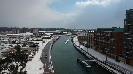 Fantasic aerial drone footage of the Ipswich docks. Picture: WILL RODWELL