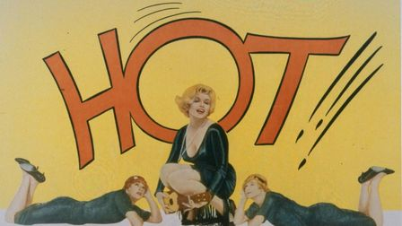 """A Lobby card is shown for Billy Wilder's """"Some Like It Hot"""", 1959, starring Marilyn Monroe, Tony Cur"""