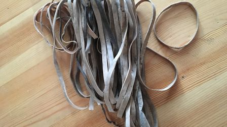 Some of the rubber bands I found littering the streets near where I live. Picture: SHEENA GRANT