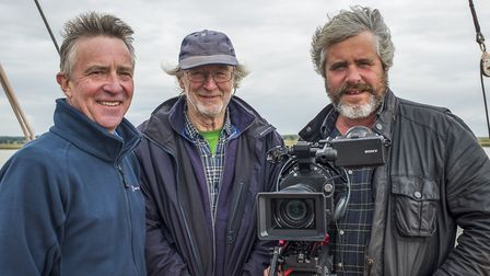 John McCarthy, Malcolm Hodd, and Tim Curtis the team behind the film, Life on the Deben. Photo: Jemm