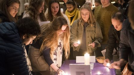 More than 150 people turned out for a vigil for Sophie Smith on Saturday night. Picture: NICK BUTCHE
