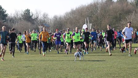 The start of last Saturday's Mersea Island parkrun, at Cudmore Grove, East Mersea. Picture: LW Photo