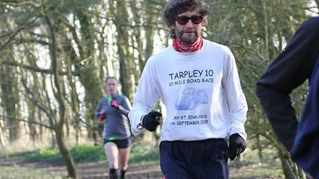 'On the Run' columnist, Carl Marston, running in his winter's gear at East Mersea last weekend. Pict