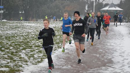 Runners get into their stride at last Saturday's Harwich parkrun, which went ahead due to the hard w