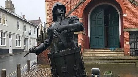 The Drummer Boy statue shortly after its arrival on Market Hill. Picture: CHRIS WALKER