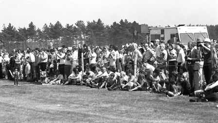 The 1976 Woodbridge Air Show attracted a large crowd