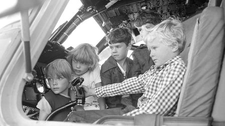 Some of the younger guests were able to explore the inside of a cockpit