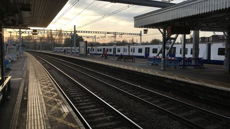A cordon has been put in place at Shenfield train station. Picture: PAUL GEATER