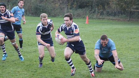 Fraser Beckett was on the scoresheet for Sudbury. Picture: ARCHANT
