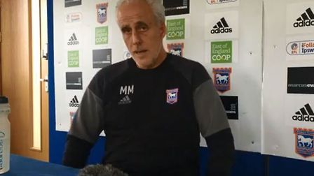 Mick McCarthy, pictured at his press conference ahead of the home clash with Hull. Picture: EADTSpor