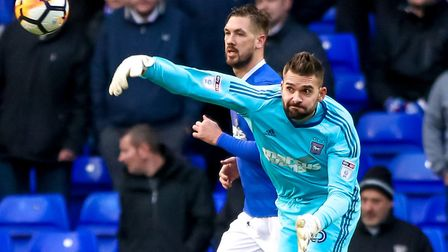 Bartosz Bialkowski has agreed, but not signed, his new Ipswich contract. Picture: STEVE WALLER
