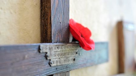 The crosses which were brought back from fronthave been rehung. Picture: SARAH LUCY BROWN