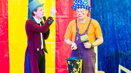 Clowns are one of the attractions at Circus Petite, appearing in Martlesham, Felixstowe and Ipswich