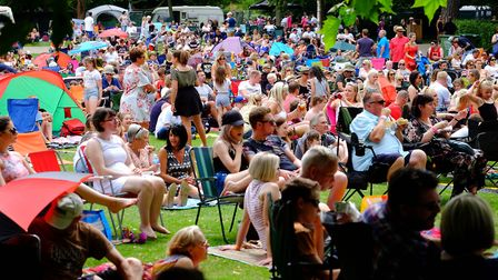Hundreds of people attended last year's Nearly Festival at Abbey Gardens in Bury St Edmunds. Pictur