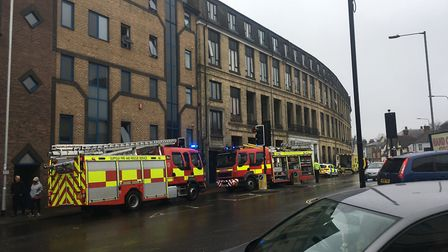 A number of emergency service vehicles have been called to Pipers Court, St Margaret's Plain, in Ips