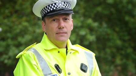 Inspector Chris Hinitt from the Norfolk and Suffolk Roads Policing Unit. Picture: SARAH LUCY BROWN