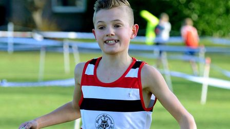 Lewis Sullivan, who finished a fine 10th in the under-13 boys' race at the Inter-Counties Cross Coun