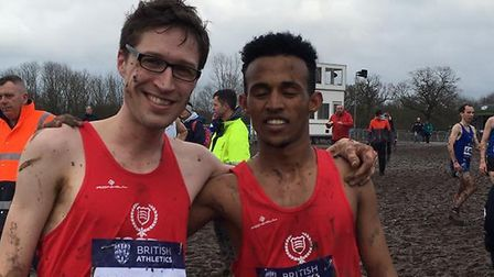 Angus Holford, left, and Ramadan Osman after representing Essex at the Inter-Counties Championships