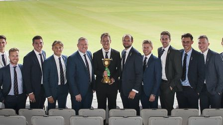 Essex, with their Division One trophy. Photo: RICHARD BAILEY