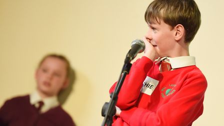 One students takes to the stage at last year's competition. Picture: SARAH LUCY BROWN