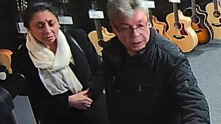 Police want to speak to these people after a guitar was stolen in Colchester. Picture: PROVIDED BY E