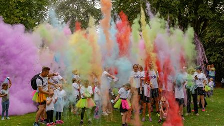 The EACH Colour Dash is returning to Bury St Edmunds. Picture: MARTIN QUADLING