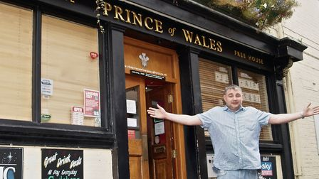 Duncan Tuhey outside the Prince of Wales pub in Sudbury. Picture: PATRICK LOWMAN