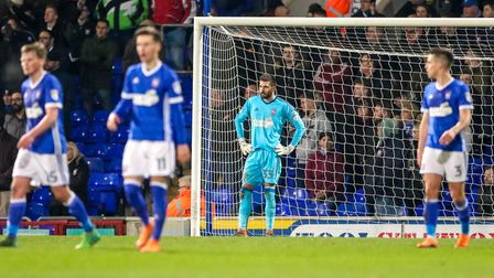 Keeper Bartosz Bialkowski reacts after being beaten for a second time in Town's loss to Hull last ni