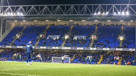 The attendance 13,031 was the lowest at Portman Road since September 1998. Picture: Steve Waller