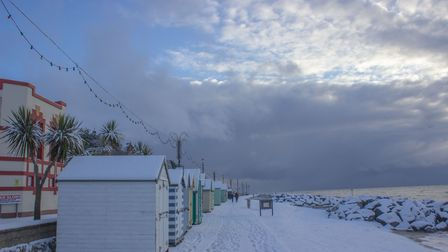 Snowy scenes in Felixstowe during the last spell of cold weather. Picture: TGM