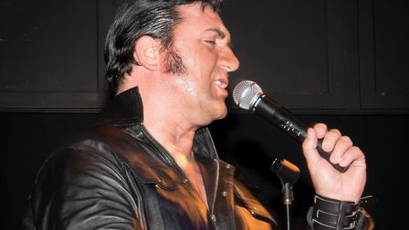 Andy Ottley as Elvis. Picture: LEGEND PROMOTIONS