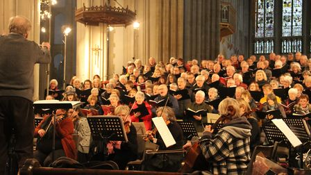 Spend an evening listening to the Aldeburgh and Bury choir. Picture: BURY BACH CHOIR