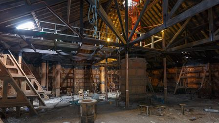 Inside the Jumbo water tower - where a sky-high restaurant, bar, gift shop and heritage centre could