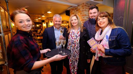 The launch night at the Weavers Tap. Picture: NICK STRUGNELL/UNP