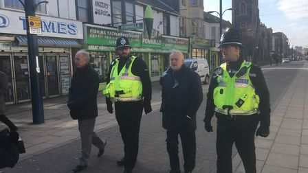 Labour leader Jeremy Corbyn in Great Yarmouth. Picture David Hannant.