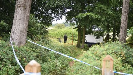 Police carrying out forensic investigation work. Picture: ANTONY KELLY