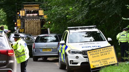Anniversary checks were carried out near the scene. Picture: NICK BUTCHER
