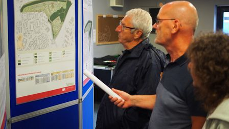 A public exhibition on plans for up to 300 homes in Rendlesham held last year. Picture: TOM POTTER