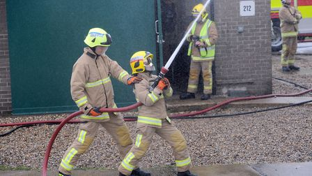Firefighters tackled the flames. File picture: ARCHANT