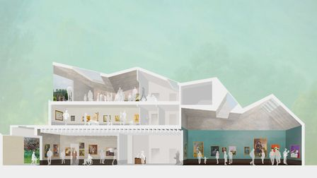 An artist's impression of the new gallery