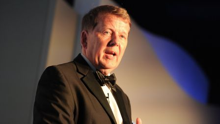 Bill Turnbull speaking at the East Anglian Daily Times Business Awards 2017. Picture: SARAH LUCY BR